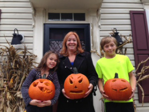 These actually are my kids and their pumpkins - Pumpkin Carving 2014